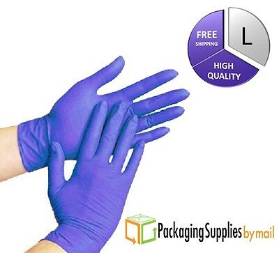200 pcs Disposable Powder Free Nitrile Medical Economy Exam Gloves Size: LARGE