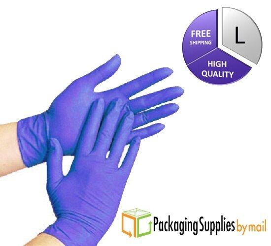 Купить PackagingSuppliesByMail Blue Nitrile Economy Exam Gloves - 200 pcs Disposable Powder Free Nitrile Medical Economy Exam Gloves Size: LARGE