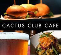 Cactus Club Cafe Jasper Ave - HIRING COOKS & DISHWASHERS!