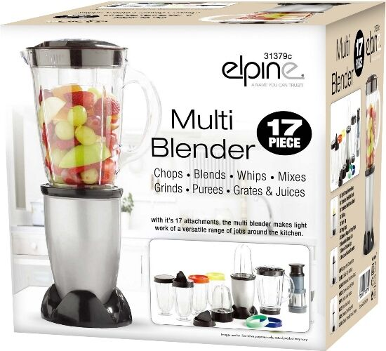 17pcs Multi Blender Food Processor Juicer Smoothie Maker Liquidiser Mixer Choppe