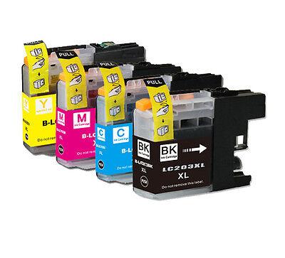 4 PK Printer Ink Set + Chip for Brother LC203 MFC-J680DW MFC