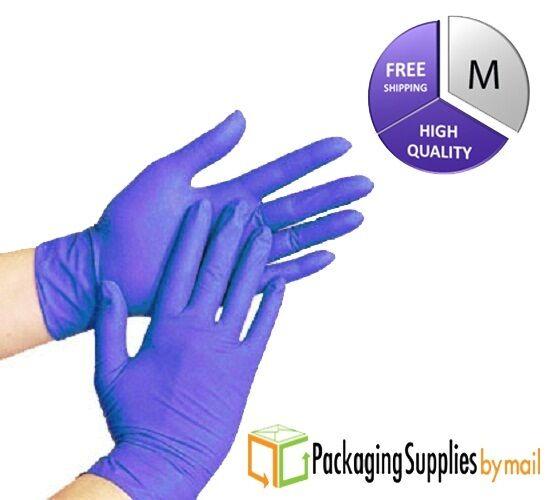 Купить PackagingSuppliesByMail Blue Nitrile Economy Exam Gloves - 200 Disposable Powder Free Nitrile Medical Economy Exam Gloves Size: MEDIUM