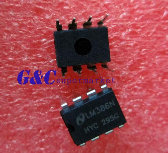 30PCS IC LM386N LM386 AMP AUDIO PWR  MONO 8DIP NEW