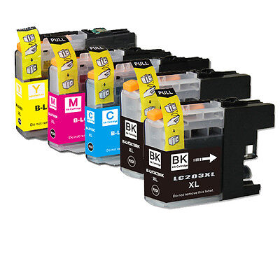 5 PK Printer Ink Set + Chip for Brother LC203 MFC-J460DW MFC