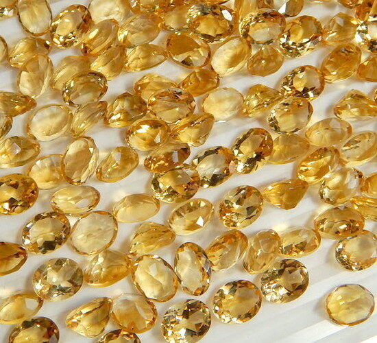 9X11 MM Genuine Citrine Oval Faceted Cut IF-VVS Calibrated Gemstones QTY Options