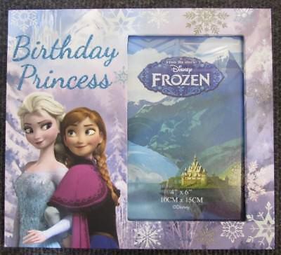 "Frozen Photo Frame (Disney Frozen Photo Frame - 'BIRTHDAY PRINCESS' - Fits a 6""X4"