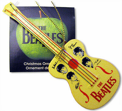 BEATLES BEAUTIFUL PLASTIC SELCOL 60S NEW SOUND STYLE GUITAR CHRISTMAS ORNAMENT