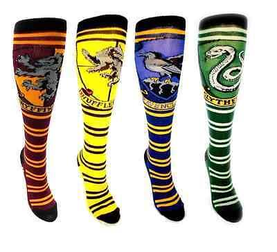 Harry Potter Knee High Socks Gryffindor, Ravenclaw, Slytherin & Hufflepuff 4pcs - Hufflepuff Socks