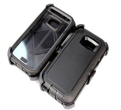 New Samsung Galaxy S7 Defender BLACK Case Cover [Belt Clip Fits Otterbox]