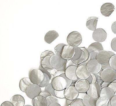 Metallic Silver Tissue Paper Circle Confetti Party Decoration Grey Wedding Favor](Confetti Tissue Paper)