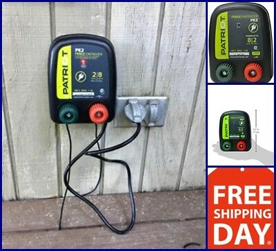 New Electric Fence Energizer 0.1 J Pe2 Patriot Charger Keep Out Small Animals