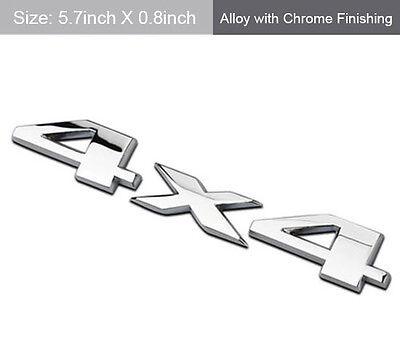Silver Chrome 4X4 Auto Car Logo Decal Emblem Sticker for JEEP Dodge Ford Truck