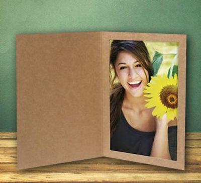 4x6 Kraft Event Cardboard Photo Folders - Pack of -