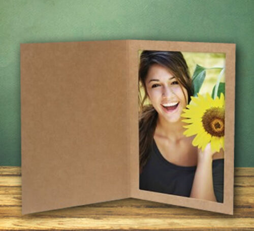 5x7 Kraft Event Cardboard Photo Folders - Pack of 25