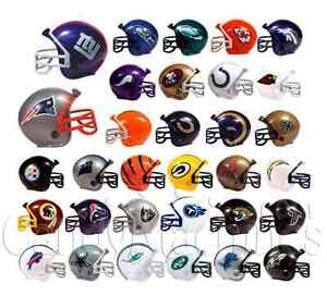 NFL Mini Collectible Helmets Produced early 2000s approx.