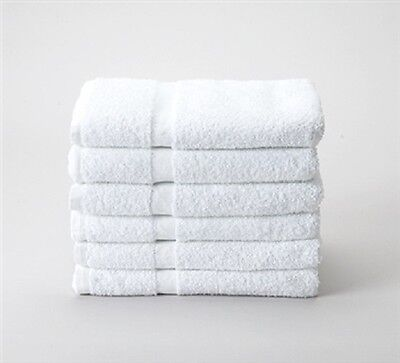 12 NEW WHITE 100% COTTON HOTEL BATH TOWELS 22x44 NEW ABSORBENT SPA SELECT BRAND