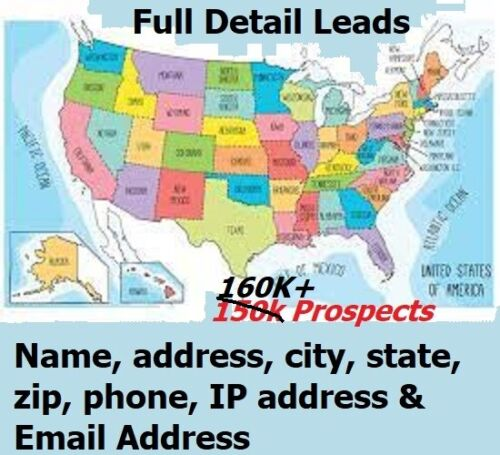 FRESH Opportunity Seekers USA Database MLM Home Business Sept Leads Email Phone