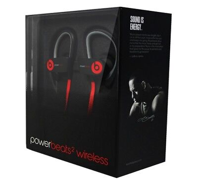 Beats By Dre - Beats by Dr. Dre Powerbeats 2 Wireless Ear Hook Sport Bluetooth Headphones Black