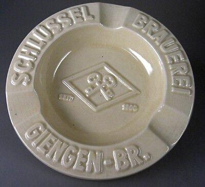 Aschenbecher Schlüssel Brauerei Giengen Brenz um 1955 (30583)