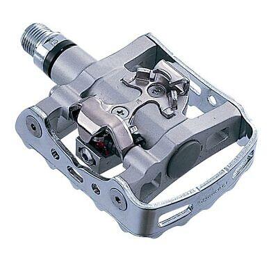 Pedale SPD Shimano M324 mit Schuhplatten SM-SH56 einseitige - Silber