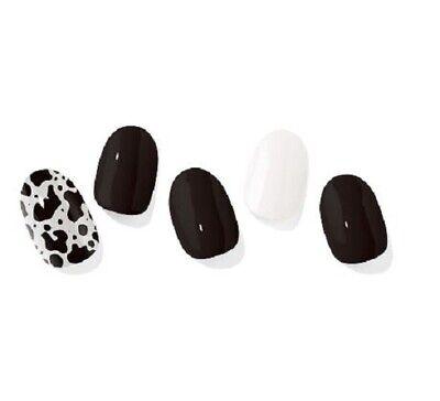 K-beauty [OHORA] Self Gel Nail Art Patch 30pcs N Dalmatian Nails