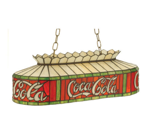"Coca Cola 24"" Stain Glass Billiards Light  74069"