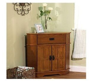 Oak corner cabinet ebay