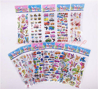 12sheets Stickers 3D Cartoon Kids Scrapbooking School Reward Xmas gift - Christmas Scrapbook