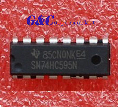 10pcs Ic 74hc595 74595 Sn74hc595n 8-bit Shift Register Dip-16 New Good Quality