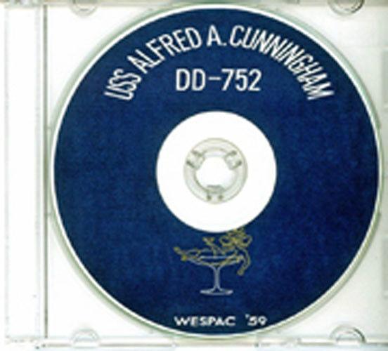 USS Alfred A Cunningham DD 752 CRUISE BOOK 1959 CD