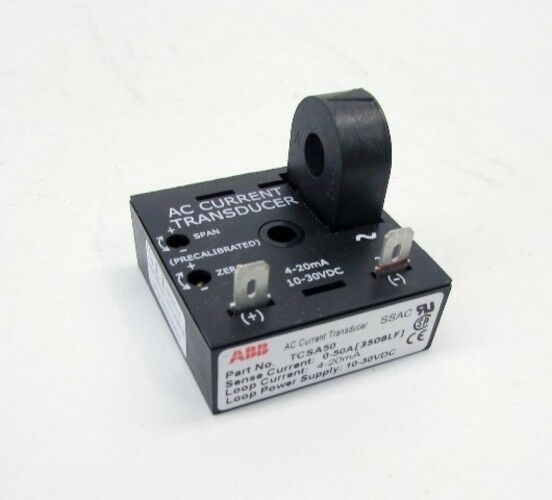 New ABB TCSA50 0-50A AC 10-30VDC Current Transducer NIB 50 Amp A Amps 30 VDC