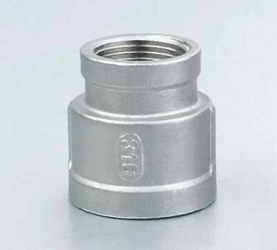 1 X 12 Female Npt Threaded Reducer Reducing Coupling Stainless Steel 316