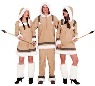 Eskimo Girl Damen Kostüm als Inuit verkleiden zu Karneval Fasching (Eskimo Damen Kostüm)