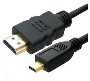 5Ft Micro HDMI to HDMI Male Adapter Converter Cable