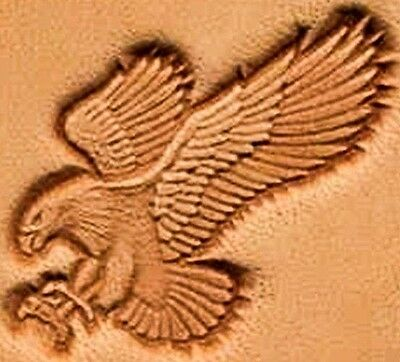 3D ATTACKING EAGLE FLYING LEATHER STAMP 8514-00 Tandy Stamping Tool Stamps Tools