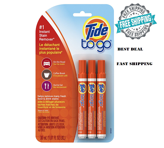 Tide To Go Clip Strip Instant Stain Remover - 3 Each