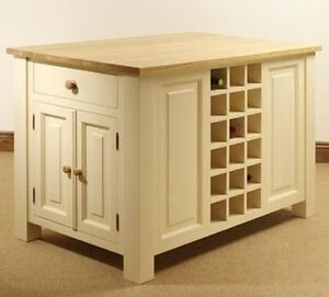 Hampton PAINTED PINE Kitchen FURNITURE Island Unit EBay