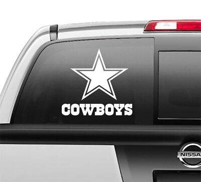 Dallas Cowboys Window Sticker Decal any size any color - Dallas Cowboys Window Decal