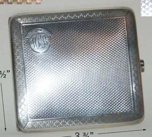 Art Deco Sterling Silver Cigarette Case Birmingham 1920 Frederick Field England