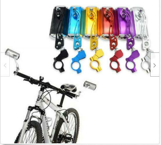 1 Pair Adjustable Bike Bicycle Rearview Mirror Handlebar Safety Reversing Mirror