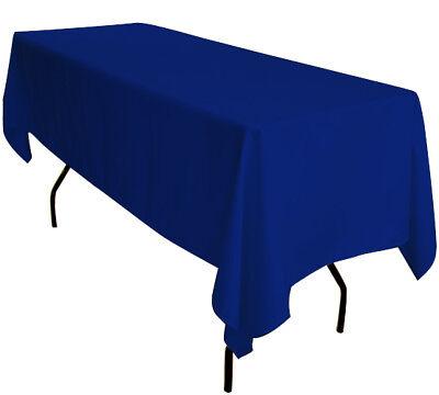 5 x 90 X132 Blu Royal Rettangolare 6ft Trestle Tavolo Tovaglie per Banchetti