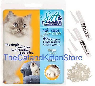 Soft Claws Nail Caps For Cats Kittens Paws  Small  Medium   Large  Choose Color
