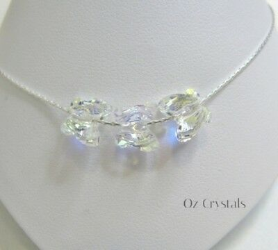 Butterfly Anklet made with Swarovski Crystal AB & Solid Sterling Silver