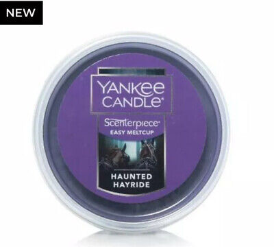 YANKEE CANDLE HAUNTED HAYRIDE SCENTERPIECE EASY MELT CUP NEW HALLOWEEN VHTF
