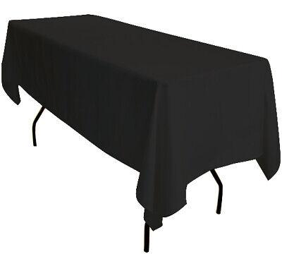 1 x 90 X132 Pollici Nero Rettangolare 6ft Tavolo Tovaglia Esposizione