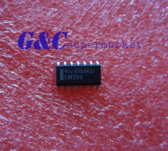 100PCS IC LM339 IC QUAD DIFF COMPARATOR SOP14 TI NEW