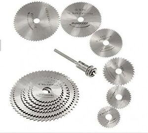 New 7pc HSS Circular Wood Cutting Saw Blade Discs for Dremel Rotary Tool Mandrel