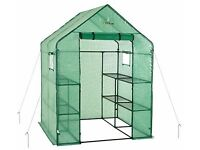 2-Tier Eight Shelf Portable Lawn And Garden Green House