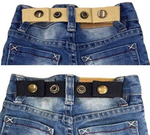 SNAP BELT for Baby&Toddler Boy & Girl Pants ADJUSTABLE-SISTER SELECTED x 2 Set 1
