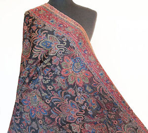 Hand-Cut-Kani-Jamavar-Wool-Paisley-Shawl-Luxuriously-Detailed-Jamawar-Stole